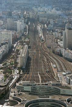 Paris Voies de la Gare Montparnasse. France