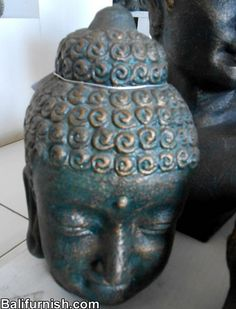 heads made of terracotta or clay. Made in Indonesia Bali Furniture, Buddha Head, Ceramic Teapots, Handicraft, Terracotta, Tea Pots, Clay, Illustrations, Sculpture
