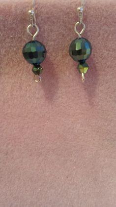 Metallic green earrings