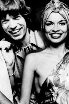 Super seventies: Mick and Bianca Jagger