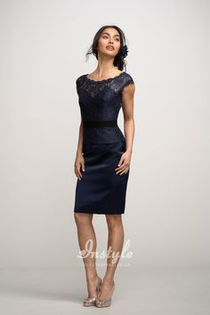 d7824257ce1 navy boat neck lace top sheath dress uk with cap sleeves instyle.co.uk