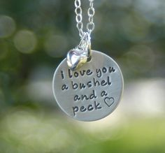I Love You a Bushel and a Peck Necklace at Sweet Blossom Gifts