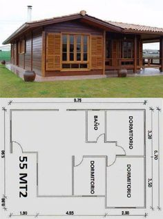 Country house designs - Choose the style and material that best suits you Wood House Design, Country House Design, Village House Design, Small House Design, Modern Tiny House, Tiny House Cabin, Cute Small Houses, Narrow House Plans, House Construction Plan