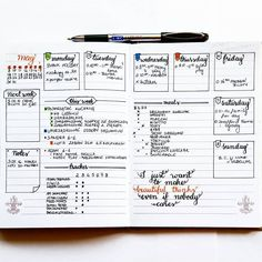 Here it is, my weekly log It looks exactly the same like last week spread. I really, really like this layout I think that next week I might combine Saturday and Sunday in one box Organization Bullet Journal, Bullet Journal Hacks, Bullet Journal Layout, Bullet Journal Inspiration, Journal Ideas, Bullet Journel, Journal Diary, Daily Journal, Doodle Lettering