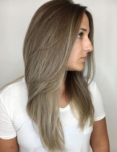 40 Ash Blonde Hair Looks You'll Swoon Over/Brown To Ash Blonde Ombre Medium Ash Blonde Hair, Ash Hair, Blonde Hair Looks, Hair Medium, Brunette Hair, Ombre Blond, Ombre Hair Color, Blonde Color, Hair Colors