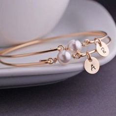 Personalized Pearl Jewelry June Birthday Gift by georgiedesigns