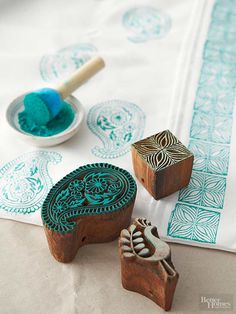 Stamps are even more fun when you create them from scratch. Update your fabrics and furnishings with these neat DIY stamps made from affordable materials and tools. Pull out your favorite paint, pillows, inks, and linens, and get stamping!