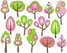 You will receive a zip file containing 14 autumn trees clip art elements.  Each tree is saved separately in png file with transparent background. Retro trees are 6 inches high, high quality (300 dpi) allows to resize them without loosing quality.  You will also get a 15 PNG file with transparent background containing all images at once.  Perfect for scrapbooking, invitations, cards, baby shower, web design and other design purposes. Only personal and small commercial use are allowed.  This…