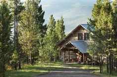 wooden-house-in-the-state-montana- #countryhomes #country #countryhouse #countrythang