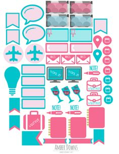 More free printable planner stickers
