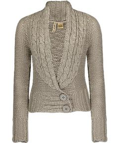 BKE Cable Placket Cardigan Sweater....i can even take this one without a brighter color. grey suits it so well.