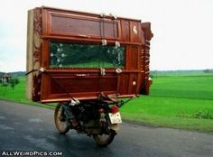 Haul large pieces of furniture on my motorcycle