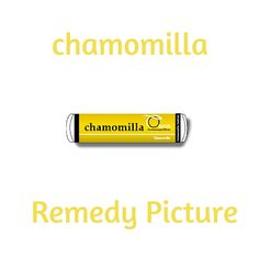 "Chamomilla as a homoeopathic remedy is helpful for difficult behaviour characterised by sudden spiteful or uncivil irritability, a very low pain threshold, and complaining: ""I can't bear it!"" A great children's teething remedy, Chamomilla is also commonly used in home prescribing for colic, colds, fevers and earaches."