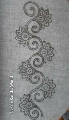 Excellent Free of Charge Embroidery Designs dress Thoughts Riscos Para Bordar Bordar Hand Embroidery Design Patterns, Hand Embroidery Dress, Flower Embroidery Designs, Hand Embroidery Stitches, Beaded Embroidery, Machine Embroidery, Bordado Popular, Motifs Perler, Mehndi Art Designs