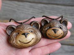 Brumla, velký medvídek -  přívěsek na krk - autor :  Hanka Čížková