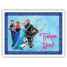 Frozen Thank You Cards Free
