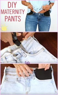 DIY Maternity Jeans Hack Tutorial-Video DIY Maternity Jeans H. - DIY Maternity Jeans Hack Tutorial-Video DIY Maternity Jeans Hack Tutorial-Video Source by weihnachtenfeiert - Diy Kleidung, Diy Mode, Refashioning, Maternity Pants, Maternity Clothing, Maternity Sewing, Clothing Hacks, Cute Diys, Sewing Hacks