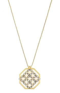 Louise et Cie Crystal Cluster Pendant Necklace available at #Nordstrom
