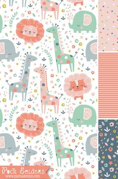 Baby Wallpaper Pattern Fabrics 63 Ideas For 2019 Baby Wallpaper, Animal Wallpaper, Pattern Wallpaper, Nursery Patterns, Kids Patterns, Print Patterns, Kids Prints, Baby Prints, Pattern Illustration