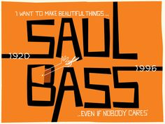 Do you know who Saul Bass is? I did not, yet Im sure that like me you are familiar with some of his work. I was watching a Shepard Fairey interview where he talked about this great man. Saul Bass was an American graphic designer and Academy Award winning filmmaker, best known for his design of motion [&hellip