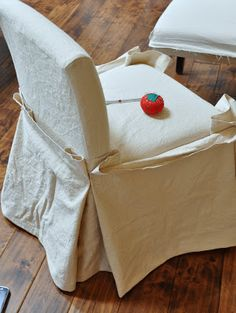 Isabella & Max Rooms: Drop Cloth Slipcovers...Complete!