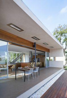 maison passive contemporaine, espace à plan ouvert