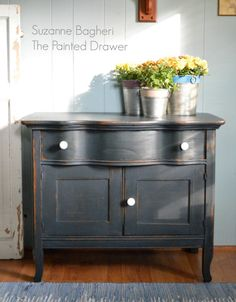 Midnight Blue Farmhouse Cabinet