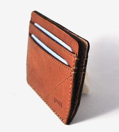 Double Pocket Leather Card Wallet | Crafted of sturdy, vegetable-tanned leather…