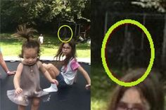 Eerie figure photographed in family photo