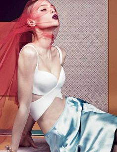 Veiled Lingerie-Inspired Fashion - The Interview Magazine 'Seduction' Editorial is Edgy and Vibrant (GALLERY)