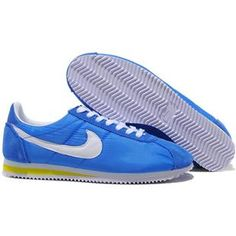 http://www.asneakers4u.com/ Women Nike Cortez Oxford Cloth Blue White Shoes
