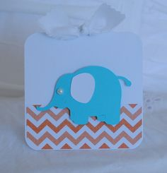 Chevron Baby Shower Thank You Cards Aqua Blue by CardinalBoutique, $70.00