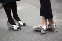 Silver patent shoes!  Paris Fashionweek day 8 | A Love is Blind