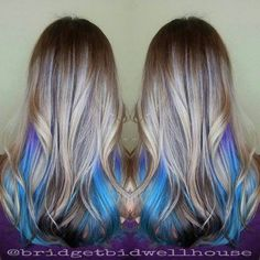 underlights hair color shots 7 - Best New Hair Styles Vivid Hair Color, Hair Color And Cut, Ombre Hair Color, Best Ombre Hair, Underlights Hair, Grunge Hair, Hair Dos, Balayage Hair, Pretty Hairstyles