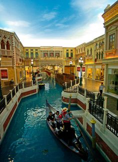 Venetian Hotel, Las Vegas-this portion is inside in the mall area I rode in this in 2/2008