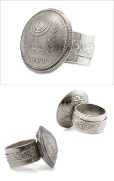 Israeli Coin Ring  Handmade Coin Jewelry  2nd Peace by NoaTam