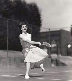 Ava Gardner keeps fit with a daily game of tennis, despite her busy days as a starlet at Metro-Goldwyn-Mayer studio. The lovely brownette was signed to a long-term contract when talent scouts saw her photograph in a New York photographer's window.