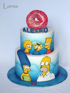 The Simpsons family.. - Cake by Lorna