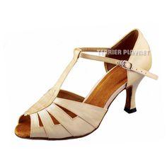 TPS Cream Satin Latin Ballroom Salsa Custom-made Dance Shoes D900 #TPS #Sandals