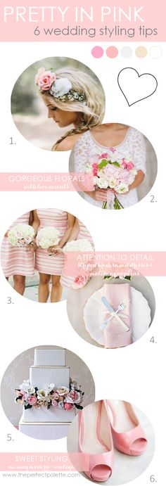 6 Wedding Styling Tips   Styling tips on how to use color to bring your wedding to life! http://www.theperfectpalette.com/2013/10/pretty-in-pink-color-your-wedding.html