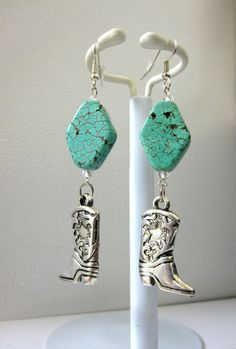 Cowboy Boot Earrings Western Cowgirl Bling by sweetie2sweetie, $14.99