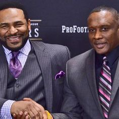 """ND HOF Bettis and Brown Like the Irish?  Be sure to check out and """"LIKE"""" my Facebook Page https://www.facebook.com/HereComestheIrish  Please be sure to upload and share any personal pictures of your Notre Dame experience with your fellow Irish fans!"""