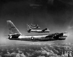 32B-47 jet bombers, during flight from MacDill Air Force Base |