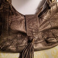BUENO COLLECTION Bronze Faux Leather Hobo Slouchy Handbag Purse NWT MSP $70  #BuenoCollection #ShoulderBag