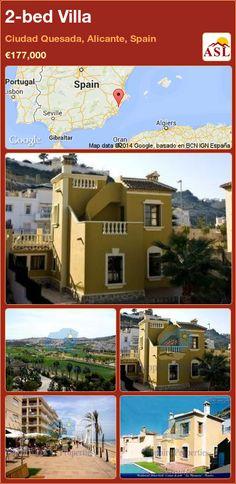 2-bed Villa in Ciudad Quesada, Alicante, Spain ►€177,000 #PropertyForSaleInSpain