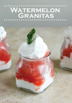 Get in the summer spirit by making this delicious Watermelon Granita recipe!