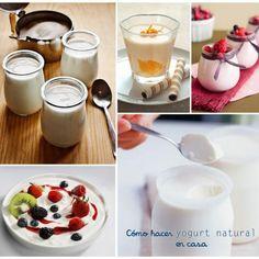 El proceso de preparar yogur es muy sencillo. Tienes que dedicarle unos 10 minutos. Todo el proceso puede durar casi una hora, y luego el yogur se hace solo. Sabemos que en el yogur hecho en casa no hay conservantes ni aditivos, y los nutrientes no se han desnaturalizado con procesos industriales. Podemos usar los mismos frascos toda la vida. Además por cada litro de yogur que hacemos dejamos de gastar 8 envases de plástico con sus 8 tapas de aluminio.   Ingredientes:  Leche(tanta como ... Mexican Food Recipes, Vegan Recipes, Ethnic Recipes, Kefir Culture, Natural Yogurt, Homemade Cheese, Artisan Bread, Cheese Recipes, Vegan Vegetarian