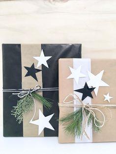 DIY-Dekoration ° So kannst du Geschenke für Weihnachten besonders schön verpacken Christmas Gift Wrapping, Christmas Presents, Christmas Diy, Christmas Decorations, Preschool Decorations, Holiday Gifts, Cute Gifts, Diy Gifts, Handmade Gifts