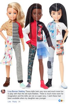 After Barbies of more inclusive body types, races, and careers have received positive press, it seems Mattel is fully on the progressive train. And their latest launch - a Barbie who is gender-neutral, complete with two outfits and hairdos - has got the whole internet talking. #barbies#body#types#races#careers#positive#press#mattel#fully#train#latest#launch#gender#natural#two#outfits#internet#talk