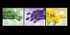Croatian Post issued beautiful Aromatic Croatian Flora Stamps featuring Rosemary, lavender and Curry plant spreading fragrance all over.